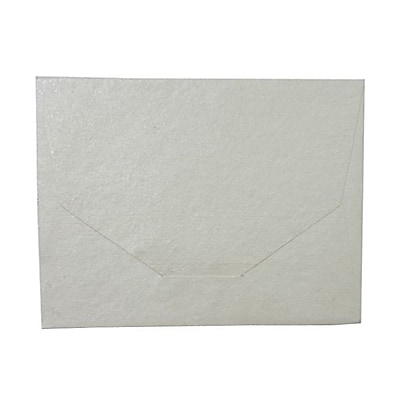 JAM Paper 10 x 13 Booklet Handmade Envelopes Metallic Ivory Recycled Sold Individually 5964487