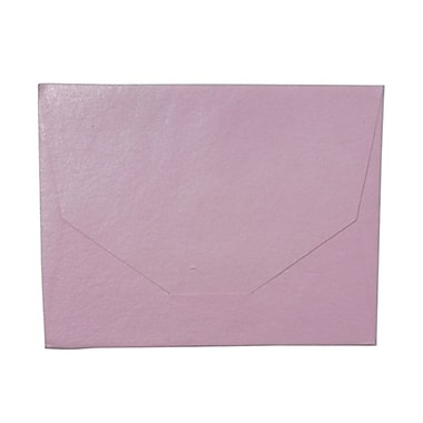 JAM Paper® 10 x 13 Booklet Handmade Envelopes, Metallic Baby Pink Recycled, 10/Pack (5964465g)