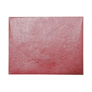 """JAM Paper® Red Metallic Handmade Recycled Wallet / Folder 10"""" x 13"""", Sold Individually"""
