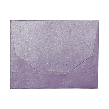 JAM Paper® 10 x 13 Booklet Handmade Envelopes, Purple Recycled, 10/Pack (5964496g)