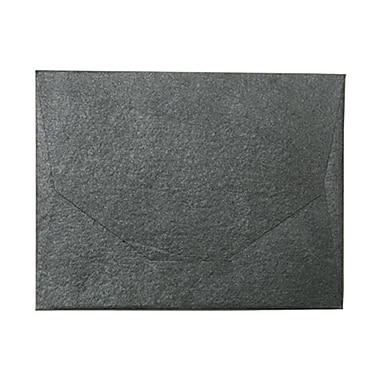 JAM Paper® 10 x 13 Booklet Handmade Envelopes, Metallic Black Recycled, 100/Pack (05964468B)