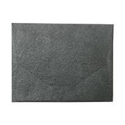 """JAM Paper® Black Metallic Handmade Recycled Wallet / Folders 10"""" x 13"""", 100/Pack"""