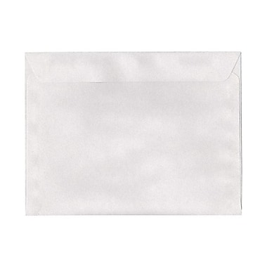 JAM Paper® 9.5 x 12.63 Booklet Envelopes, Pumice White Recycled, 100/Pack (900821357g)