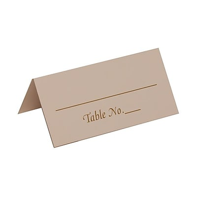 JAM Paper Placecards, Table Number Place Cards, White with Gold Place Cards, 50/pack (2259420975) 235407
