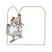 "JAM Paper® White Wedding Couple Blank Note Cards, 7"" x 7"", 500/Box"