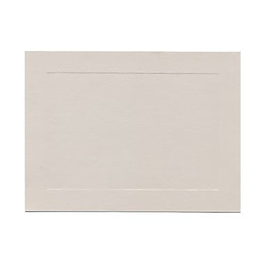 JAM Paper Blank Note Cards, Grey Panel, 4.62in. x 6.25in.