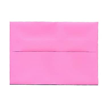 JAM Paper® 4bar A1 Envelopes, 3.63 x 5 1/8, Brite Hue Ultra Pink, 1000/Pack (15792B)