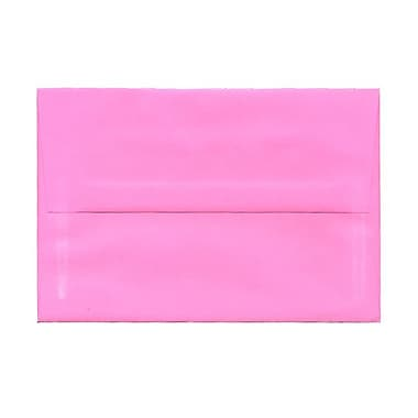 JAM Paper® A8 Invitation Envelopes, 5.5 x 8.125, Brite Hue Ultra Pink, 25/pack (796284)
