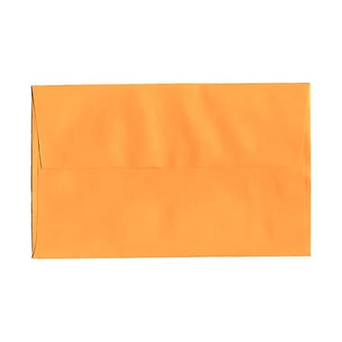JAM Paper® A10 Invitation Envelopes, 6 x 9.5, Brite Hue Ultra Orange, 100/Pack (80377g)