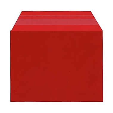 JAM Paper® Cello Sleeves, A2, 4.25 x 5 11/16, Red, 100/Pack (45SRD1)