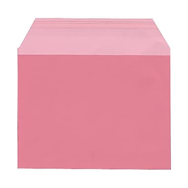 JAM Paper® Cello Sleeves, A2, 4.25 x 5 11/16, Pink, 1000/Pack (02783118B)