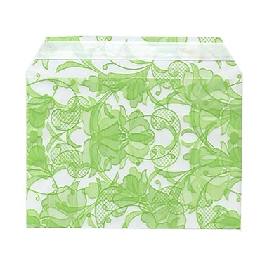 JAM Paper® Cello Sleeves, A7, 5 1/16 x 7 3/16, Green Lace, 1000/Pack (02785507B)