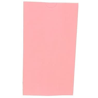 JAM Paper® Kraft Lunch Bags, Small, 4.125 x 8 x 2.25, Baby Pink, 500/box (690KRBAPIB)