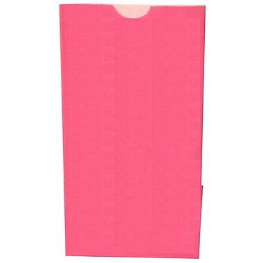 JAM Paper® Kraft Lunch Bags, Small, 4.125 x 8 x 2.25, Fuchsia Pink, 500/box (690KRFUB)