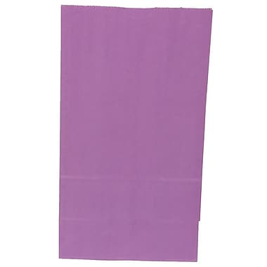 JAM Paper® Kraft Lunch Bags, Large, 6 x 11 x 3.75, Purple, 500/box (692KRPUB)