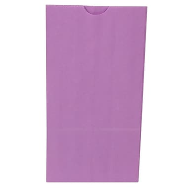 JAM Paper® Kraft Lunch Bags, Medium, 5 x 9.75 x 3, Purple, 500/box (691KRPUB)