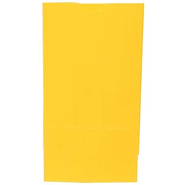 JAM Paper® Kraft Lunch Bags, Medium, 5 x 9.75 x 3, Yellow, 500/box (691KRYEB)