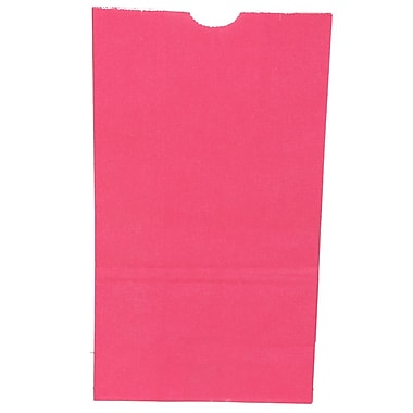 JAM Paper® Kraft Lunch Bags, Large, 6 x 11 x 3.75, Fuchsia Pink, 500/box (692KRFUB)