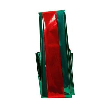 JAM Paper® Mylar Tissue Paper, Holiday Red and Green Christmas, Two Sided, 3/pack (211719220)