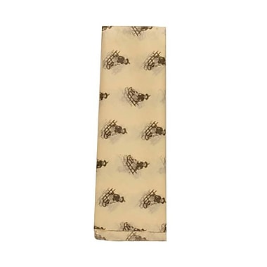 JAM Paper® Christmas Holiday Tissue Paper, Ivory with Brown Sled, 40/Pack (211813408g)