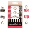 JAM Paper Pink and Black Design Binder Clips 0.75in.