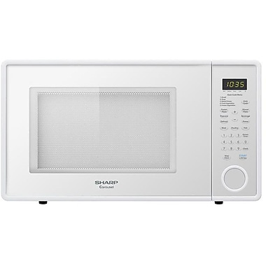 Sharp 1.3 cu. ft. Mid Size Countertop Microwave Oven With 12 3/4 Turntable, 1000 W, Smooth WhiteSorry, this item is currently out of stock.