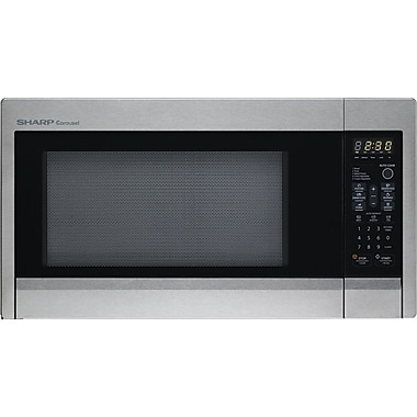 Sharp® 1.3 cu. ft. Mid Size Countertop Microwave Oven With 12.75in. Turntable, 1000 W, Stainless Steel