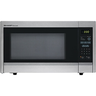Sharp 1.1 cu. ft. Mid Size Countertop Microwave Oven With 11.25 Turntable, 1000 W, Stainless Steel