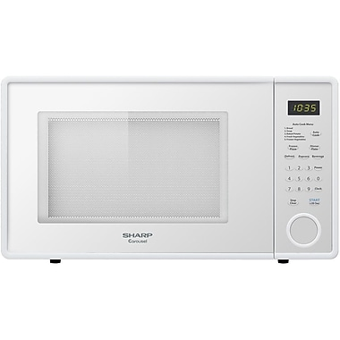 Sharp 1.1 cu. ft. Mid Size Countertop Microwave Oven With 11.25 Turntable, 1000 W, Pearl Silver