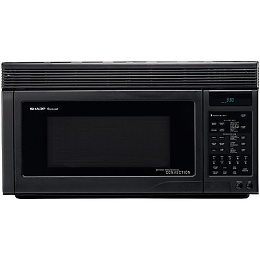 Sharp 1.1 cu. ft. Over The Range Convection Specialty Microwave Oven, 850 W, Smooth Black