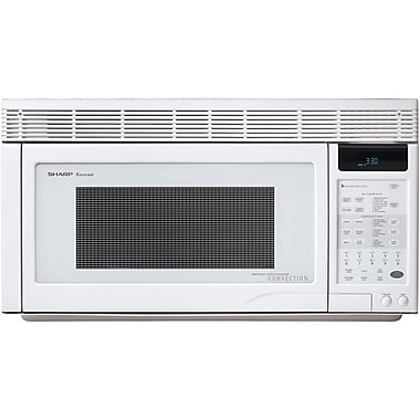 Sharp 1.1 cu. ft. Over The Range Convection Specialty Microwave Oven, 850 W, Smooth White