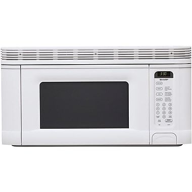 Sharp 1.4 cu. ft. Over The Range Microwave Oven, 950 W, Smooth White