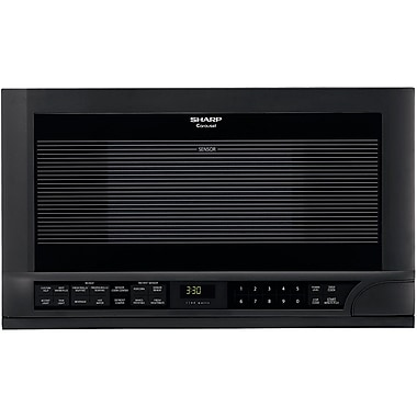 Sharp 1.5 cu. ft. Over The Counter Compact Microwave Oven, 1100 W, Smooth Black