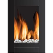 Frigidaire® Monaco Vertical Wall Hanging LED Fireplace With Remote Control, Black