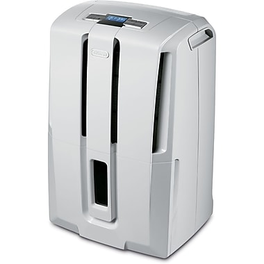 DeLonghi DD45E 45-Pint Dehumidifier, White