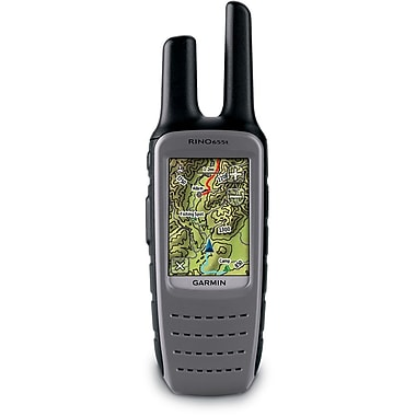 Garmin Rino 655T 2.6 US GPS With TOPO 100K Maps