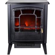 Frigidaire® Bern Retro Style Floor Standing Electric Fireplace, Black
