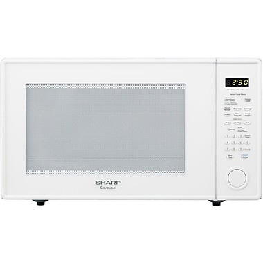 Sharp 2.2 cu. ft. Mid Size Countertop Microwave Oven With 16 Turntable, 1100 W, White