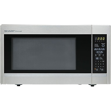 Sharp® 1.8 cu. ft. Full Size Countertop Microwave Oven With 15in. Turntable, 1100 W, Stainless Steel