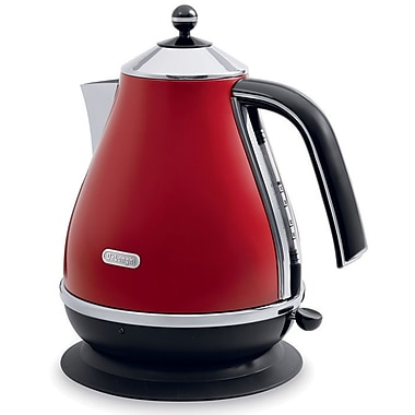 DeLonghi ICONA KBO1401R 57.5 oz. Electric Kettle With Water Level Indicator, Red