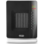 DeLonghi DCH7093ER Flat Panel Compact Ceramic Heater, Black/White