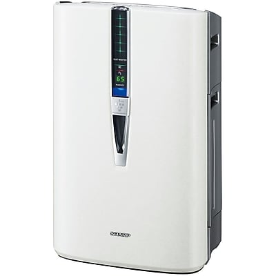 Sharp 245 CFM Plasmacluster 3 Speed Air Purifier With HEPA Filter and Humidifying Function, White 962604