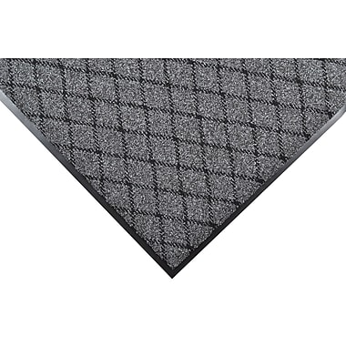 NoTrax® Evergreen Diamond™ Nylon Fiber Superior Entrance Floor Mat, 3' x 4', Charcoal