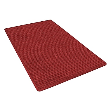 NoTrax® Barrier Rib™ Tufted Polypropylene Yarn Superior Entrance Floor Mat, 4' x 6', Red/Black