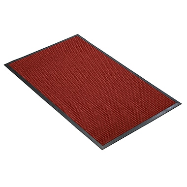 NoTrax® Guzzler™ Tufted Polypropylene Yarn Best Entrance Floor Mat, 4' x 6', Red/Black