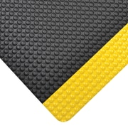 "NoTrax Bubble Trax Grande Vinyl Anti-Fatigue Mat 36"" x 24"", Black/Yellow"
