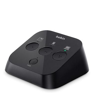 Belkin™ F1D103A 3-Port Headset Switch, Black