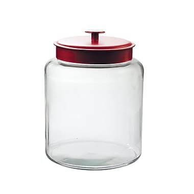 Anchor Hocking® 2 gal Glass Montana Jar With Red Lid, Clear