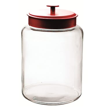 Anchor Hocking® 2.5 gal Glass Montana Jar With Red Lid, Clear