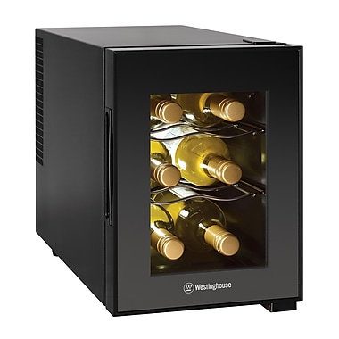 W Appliance WWT060MB 6 Bottle Thermal Electric Wine Cellar, Black